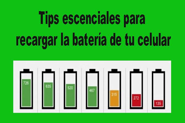 Tips para recargar la batería del celular